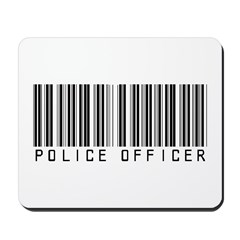 Police Officer Barcode Mousepad