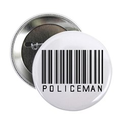 """Policeman Barcode 2.25"""" Button"""