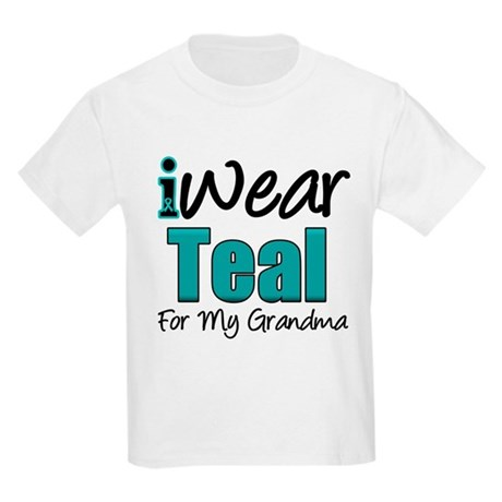 I Wear Teal Grandmother Kids Light T-Shirt