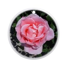 Pink Rose Ornament (Round)