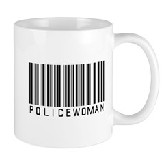 Policewoman Barcode Mug