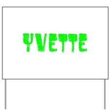 Yvette Faded (Green) Yard Sign