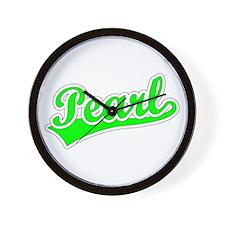 Retro Pearl (Green) Wall Clock