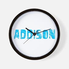 Addison Faded (Blue) Wall Clock