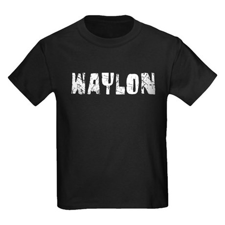 Waylon Faded (Silver) Kids Dark T-Shirt