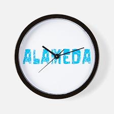Alameda Faded (Blue) Wall Clock