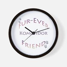 Komondor Furever Wall Clock