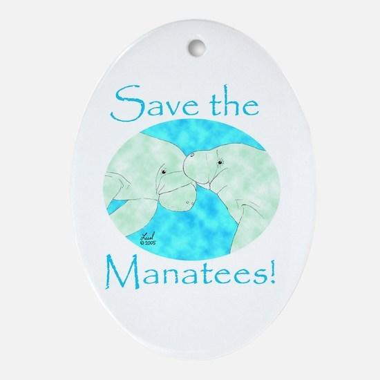 Save the Manatees Keepsake (Oval)