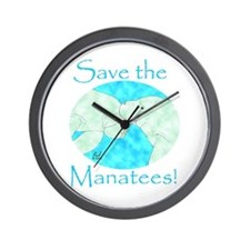 Save the Manatees Wall Clock