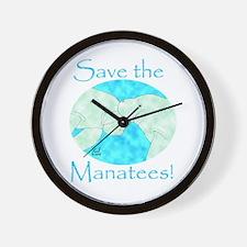 Save the Manatees Wall Clock