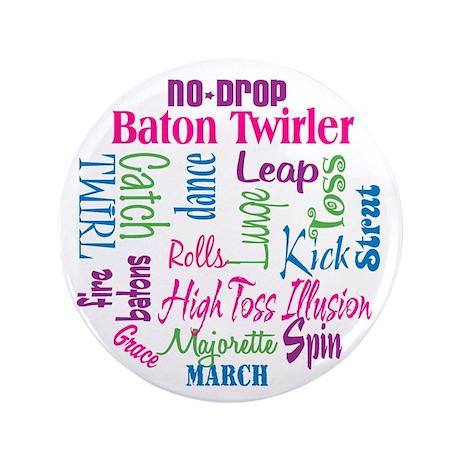 "Baton Twirler 3.5"" Button (100 pack)"
