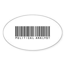 Political Analyst Barcode Oval Decal