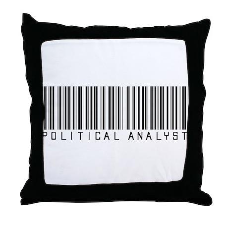 Political Analyst Barcode Throw Pillow