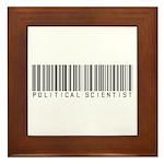Political Scientist Barcode Framed Tile