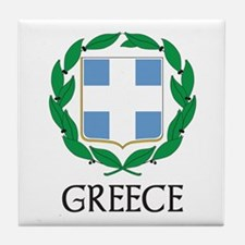 Greece Coat of Arms Tile Coaster