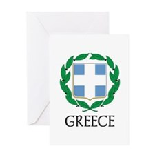 Greece Coat of Arms Greeting Card