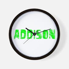 Addison Faded (Green) Wall Clock