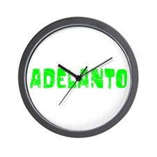 Adelanto Faded (Green) Wall Clock