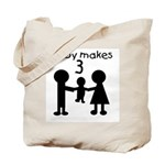 Baby Makes 3 Tote Bag