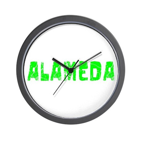 Alameda Faded (Green) Wall Clock