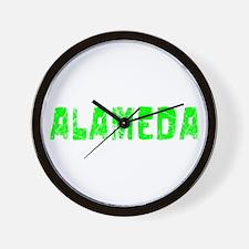Alameda Faded (Green) Wall Clock