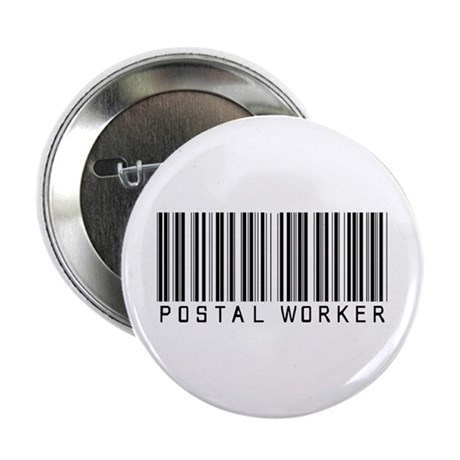 """Postal Worker Barcode 2.25"""" Button (10 pack)"""