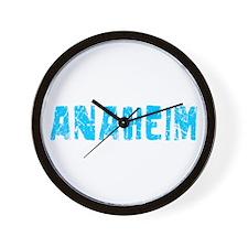 Anaheim Faded (Blue) Wall Clock