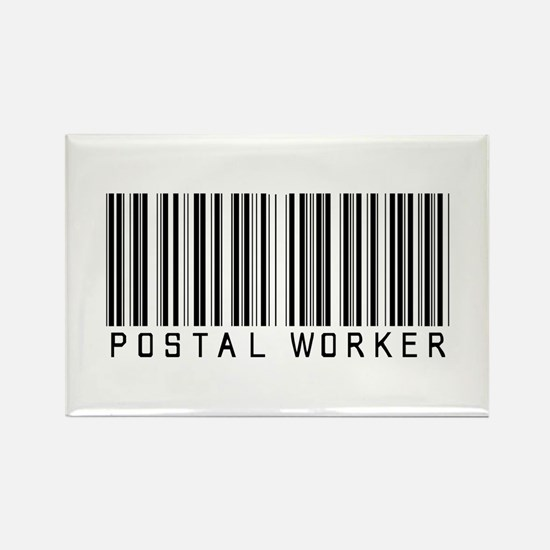Postal Worker Barcode Rectangle Magnet