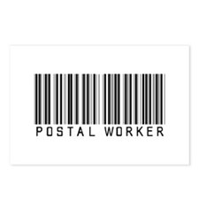 Postal Worker Barcode Postcards (Package of 8)