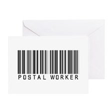 Postal Worker Barcode Greeting Card