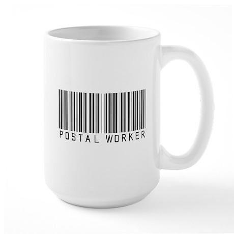 Postal Worker Barcode Large Mug