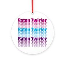 Baton Twirler Ornament (Round)