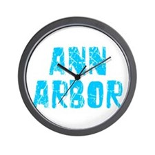 Ann Arbor Faded (Blue) Wall Clock