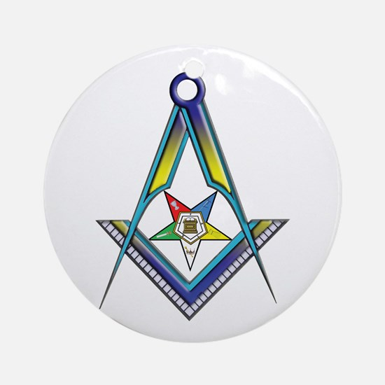 The S&C with the OES Star Ornament (Round)