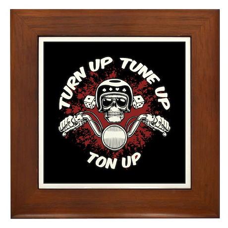 Turn Up, Tune Up, Ton Up Framed Tile