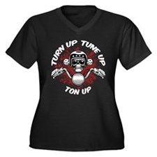 Turn Up, Tune Up, Ton Up Women's Plus Size V-Neck