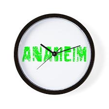Anaheim Faded (Green) Wall Clock