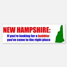 NH - Bubbler Design Bumper Bumper Bumper Sticker
