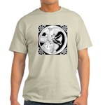 Celtic Bird & Cat Ash Grey T-Shirt