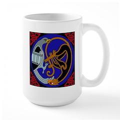 Celtic Bird & Cat Mug