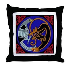 Celtic Bird & Cat Throw Pillow