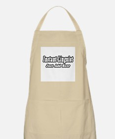"""Instant Linguist...Just Add Beer"" BBQ Apron"