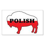 Buffalo Polish Rectangle Sticker