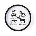 Horse Cars Wall Clock