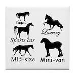 Horse Cars Tile Coaster