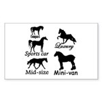 Horse Cars Rectangle Sticker