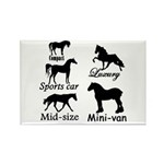 Horse Cars Rectangle Magnet