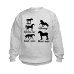 Horse Cars Kids Sweatshirt