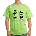 Horse Cars Green T-Shirt