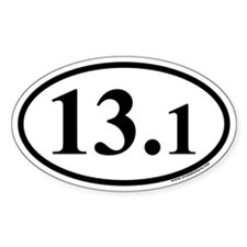 Half Marathon 13.1 Euro Oval Decal